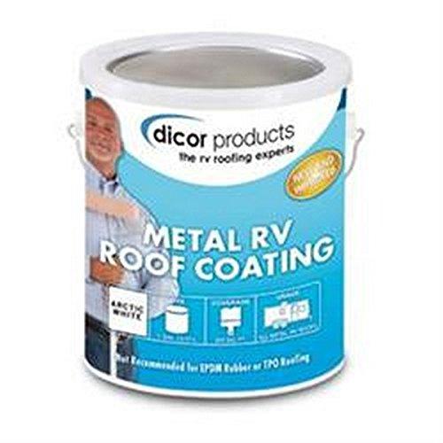 Dicor RV Trailer Corp 1gal ELASTOMERIC Coating Roof Coating