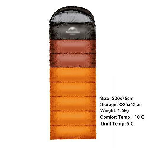 Sac de Couchage pour Camping en Plein air Ultra léger pour Double Personne, Sac de Couchage Portable en Plein air Sac de Couchage Nemo (Couleur : orange1,5 kg)