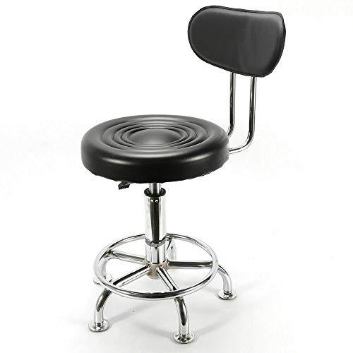 DYRABREST Work Shop Stool Bench Mechanics Chair Garage Adjustable Height Seat Salon Chair