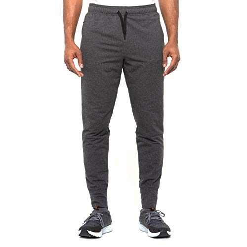 Reebok Men's Double Time Jogger Pant (Charcoal Heather, Medium)