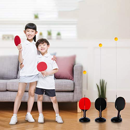 Big Save! YONGMEI Table Tennis Trainer Ping Pong Balls Paddles Set Table Tennis Trainer for Kids Tod...