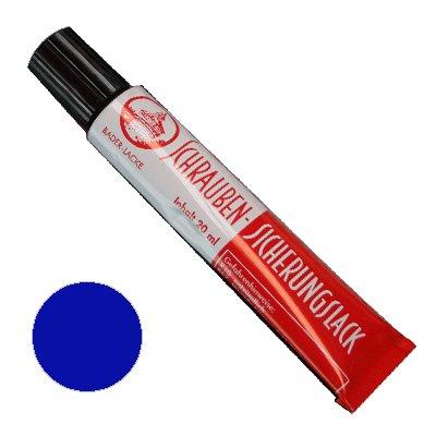 Schraubensicherungslack 20 ml. in Tube blau- Sicherungslack - Schraubenkleber