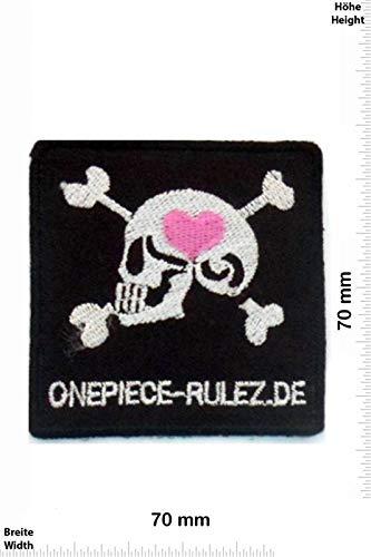 Onepiece Rulez parche patch bordado planchar hierro