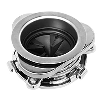 Garbage Disposal Flange Kit with Splash Guard Stainless Steel kitchen Sink Flange Set for Disposers for 3-1/2 Inch Standard Sink Drain Hole