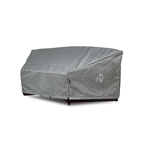 Shield Platinum - Funda Circular para sofá de 3 Capas, Resistente al Agua, 89/45 x 36 x 38 cm, Color Gris