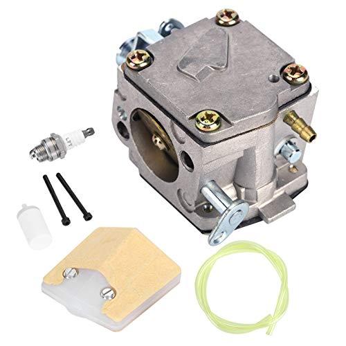 Chacerls Carburetor, Carburetor Kit Carburetor Air Filter Sparking Plug Kit Fit for Jonsered 625 630 625 Chainsaw Gardening Tool