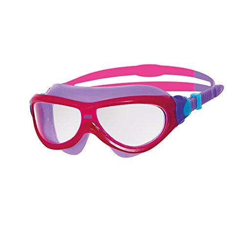Zoggs Kinder Phantom Junior Zwembril/Masker Roze/Paars met Anti-Fog en Uv Bescherming, 6-14 Jaar