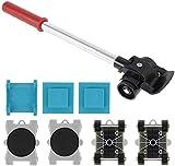 8Pcs Kit de Elevador de Muebles con Ruedas Movimiento de Muebles Pesados Deslizamiento de Muebles de Alta Resistencia Hasta 200 kg Sistema de Movimiento y Elevación