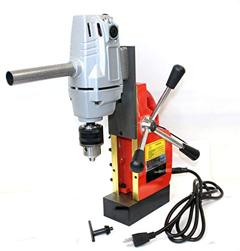 Best Prices! 1HP 750W Electric Magnetic Drill Press 1/2 Boring 1910LBS Force TableTop 550RPM