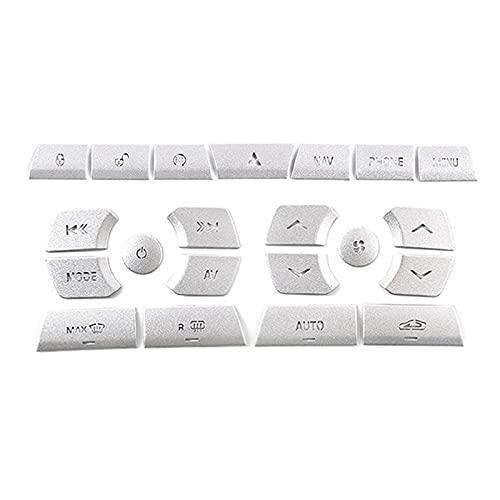 SUJIE Perilla de CA del Coche Coche Control Central Multimedia Botón Pegatinas Aire Acondicionado Botón Pegatinas Compatible con Jaguar XF 2012-2015 Durable