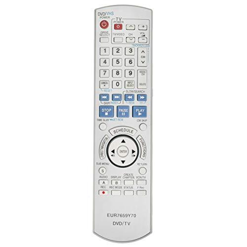 New EUR7659Y70 Replace Remote for Panasonic DVD VCR DMR-ES45 DMR-ES46 DMR-ES45V