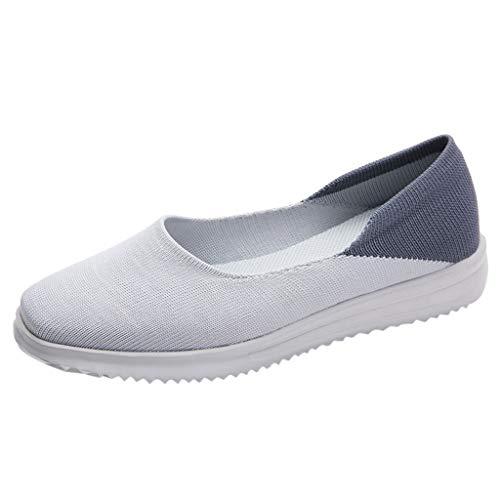 Zapatillas De Mujer con CuñA-Malla Al Aire Libre Ocasionales Runing Zapatos Transpirables Zapatillas De Deporte-Zapatillas De Mujer con Plataforma-Gran TamañO-Antideslizante-Calzado De Senderismo