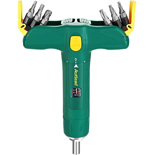 AUTLEAD Torque Screwdriver, Adjustable T-shape Torque Wrench, Wide Range 15 to 75 Inch Pounds in 1 Increment, 12 Bits Included, Firearm Accurizing, Scope Mounting, Bike Repairing - ATSD01