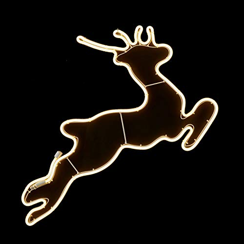 Luca Tube lumineux LED en forme de renne pour intérieur/extérieur 68 cm (E1045146) Décoration de Noël