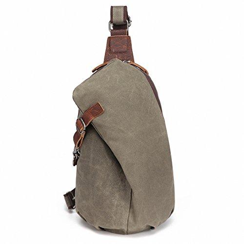 AOTIAN Mochilas Cruzada para Hombre impermeable lona Bolsos Bandolera Casual Sling Bag