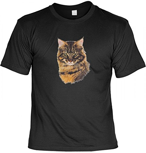 T-Shirt mit Motiv - Brown Tabby - USA Shirt Bedruckt Katze, Größe:M