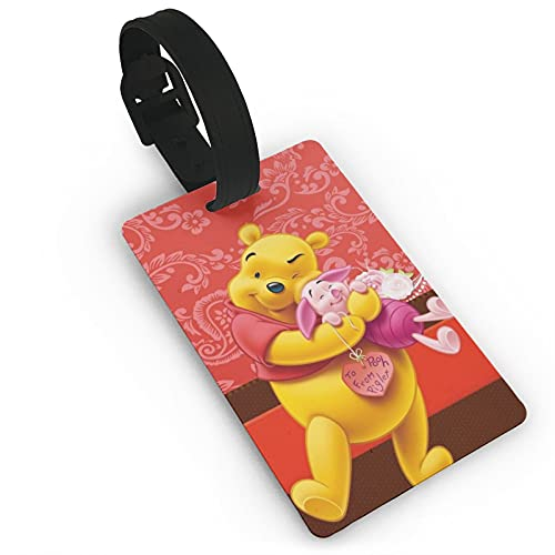 Winnie Pooh Bear etiqueta equipaje maleta equipaje hombres y mujeres PVC sólido y duradero tarjeta de viaje niños accesorios de viaje 5.4x8.5cm