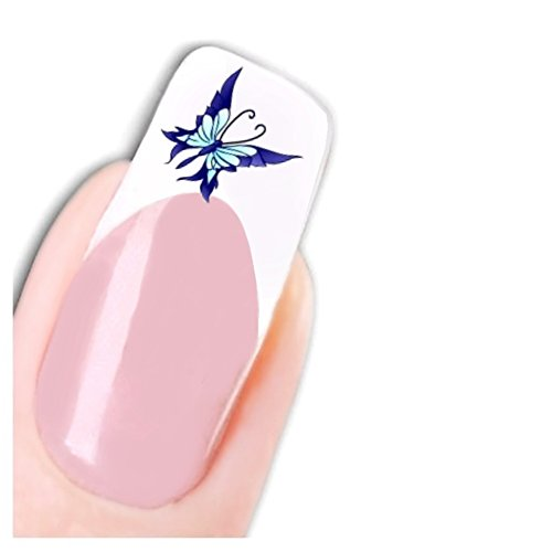 Just Fox – Tattoo Nail Art Autocollant Papillon Stickers pour ongles paillettes butterfly