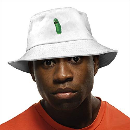 Eol1Q Unisex Cute Pickle Rick Bucket Hat Summer Fisherman Cap
