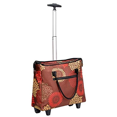 Handwagen Trolley Faltbarer Einkaufswagen für den Haushalt Tragbare Gepäcktasche Trolley Schwarzer Einkaufswagen Reiseaufbewahrungstasche 5 Style Selection (Color : D, Size : 36 * 17 * 100cm)
