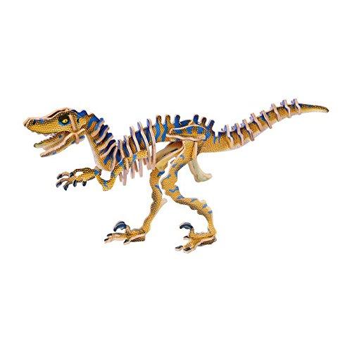 small foot company 3D Velociraptor madera dinosaurio prehistórico Jigsaw Puzzle Kit Craft Modelado