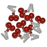 all-aro&24 Tischdeckenbeschwerer Tischtuchbeschwerer Tischdeckenklammer Tischdeckenhalter (8 Stück - Kirsche)