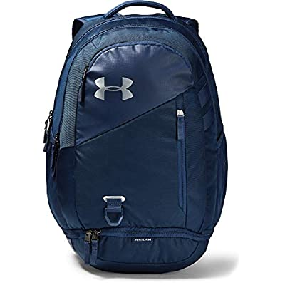 Under Armour Hustle 4.0 Backpack, Academy (408)/Silver, One Size Fits All