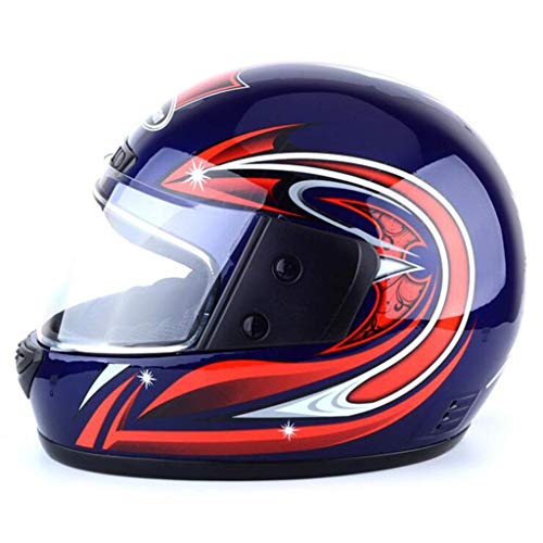Lsmaa Motorhelm elektrische helm fietshelm volledige helm unisex winterhelm (Kleur: Wit)