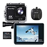 MOUNTDOG Action Camera Underwater Waterproof 30M Camera with 2' LCD Wide Angle View 1080P Full HD Sports Action Camera with 10M WiFi Wireless Control and Portable Camera Bag