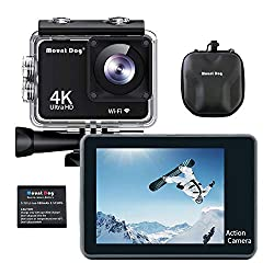 Image of MOUNTDOG Action Camera Underwater Waterproof 30M Camera with 2 inch LCD Wide Angle View 1080P Full HD Sports Action Camera with 10M WiFi Wireless Control and Portable Camera Bag: Bestviewsreviews