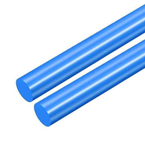 sourcing map 2 Stk. Plastik Rundstab POM Stange Rundstange Technisch Kunststoff 21mm D. Blau