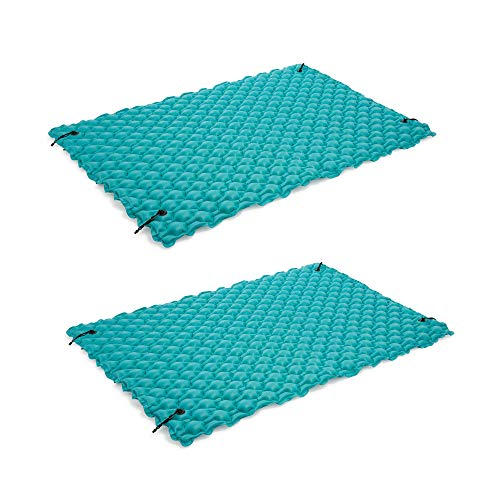 Intex 9.5' Inflatable Floating Water Swimming Pool Lake Mat Platform Pad, 2 Pack