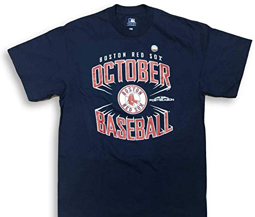 Majestic Boston Red Sox October Baseball Crew Neck Adult Men's T-Shirt (X-Large)