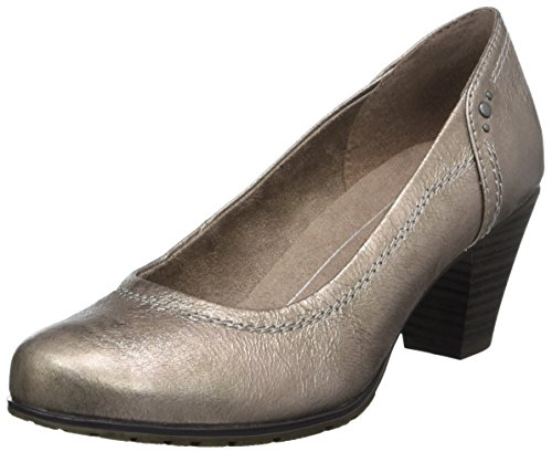Softline Damen 22465 Pumps, beige (taupe/metal), 40 EU