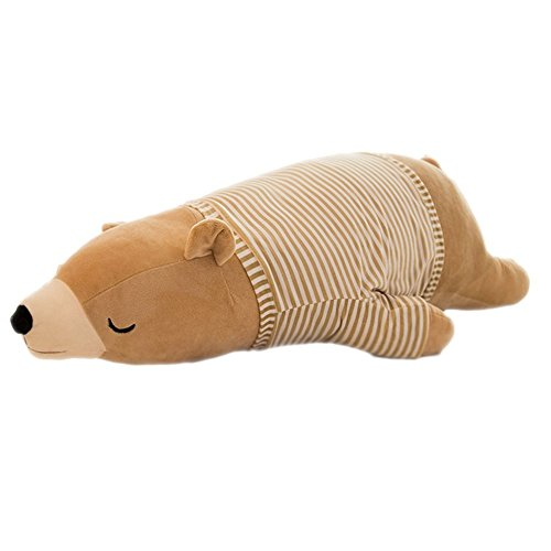 MMTTAO Polar Bear Stuffed Animal Plush Toys 18 Inch Animals Stuffed Dolls Large Brown Sleeping Bear...