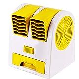 Leobtain Mini USB Cool Fan Tragbarer Tisch Ventilator Dual Kopf Kühlpult Lüfter USB...