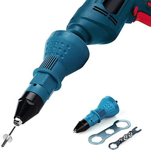 Remachadora eléctrica de remachadora remachadora para atornillador de batería con llave inglesa,...