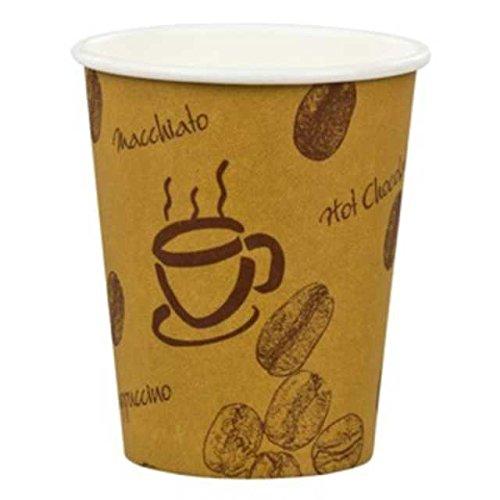 100 Stk. Kaffeebecher Premium, Coffee to go, Pappe beschichtet, 12oz, 300 ml