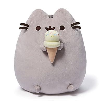 "GUND Pusheen Snackables Ice Cream Plush Stuffed Animal Cat, 9.5"""