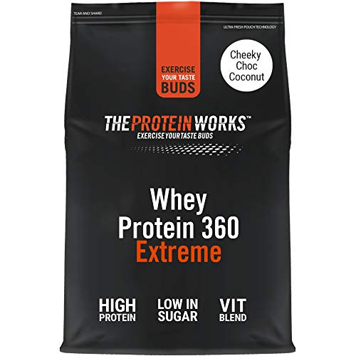 THE PROTEIN WORKS Whey Protein 360 Extreme Protein Powder | High Protein Shake | With Glutamine, Vitamins & Minerals | Protein Blend | Cheeky Choc Coconut | 600 g