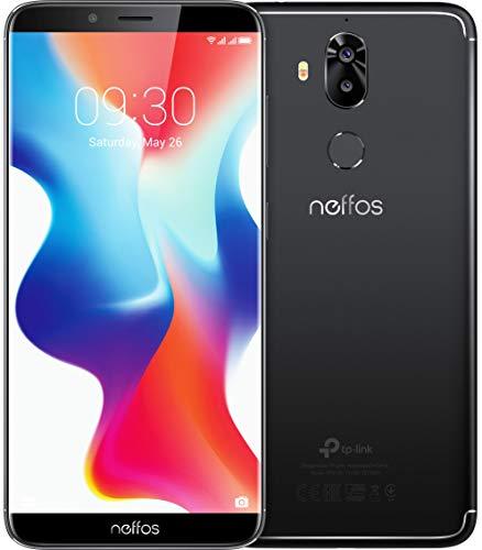 TP-Link Neffos X9 Dual Kamera FullView-Smartphone ohne Vertrag, 5,99 Zoll HD+ Bildschirm (15,21 cm), 32GB , Dual SIM, Fingerabdruck, Gesichtserkennung, 13MP Kamera, Android 8.1 (NFUI), space black