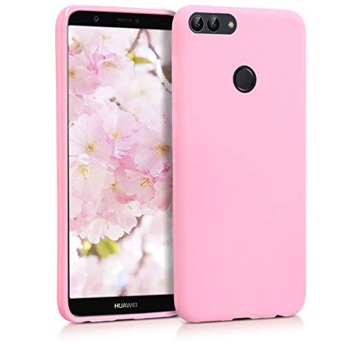 kwmobile Funda para Huawei Enjoy 7S / P Smart (2017) - Carcasa para móvil en TPU Silicona - Protector Trasero en Rosa Palo Mate