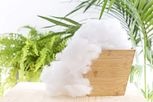 Todocama - Relleno de Microfibra 100% Poliéster - Fibra Hueca siliconada - (1 kg) - Relleno para Almohadas, Cojines y Peluches. (1 Kg)