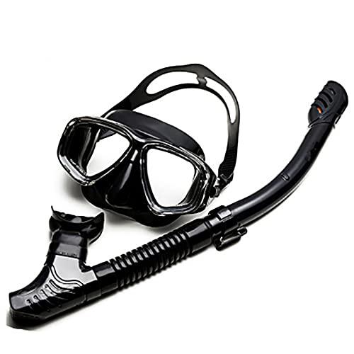 JUQIAO Juego De Snorkel Máscara De Buceo Antivaho Panorámica Vista Amplia Gafas De Buceo Equipo De Snorkel Profesional para Adultos