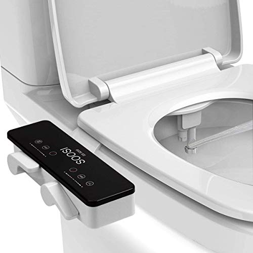Bidet For Toilet, SOOSI Bidet Ultra Slim Self Cleaning Dual Nozzle Hot&Cold Water Spray Bidets Front...