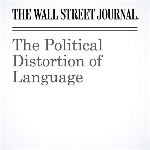 The Political Distortion of Language copertina