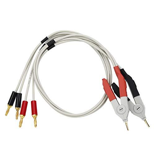 Cable de prueba de electrónica resistente al desgaste Cable de prueba de baja resistencia de 4 terminales para el tipo GTL-108A