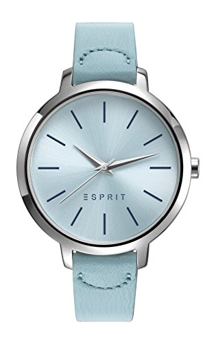 Esprit Damen Analog Klassisch Quarz Uhr mit Leder Armband ES109612002