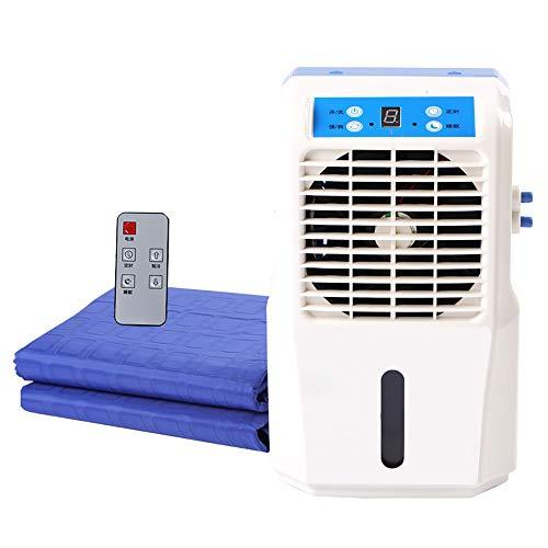 ALCST&CX Eléctrico Rápido Colchón De Hielo con Circulación De Agua, Individual/Doble ColchóN FrigoríFico con Ventilador De Aire Acondicionad, El Agua de refrigeración Almohadilla colchón