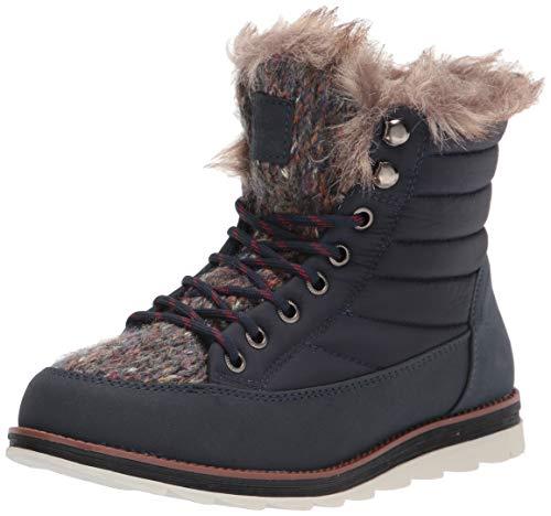 Muk Luks Women's Lace up Fashion Boot, Navy, 9